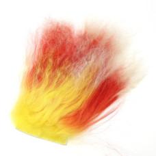 Хутро тибетської вівці CTFC Tibetian Lamb, червоний зі світлими кінчиками (Two Tone Red)
