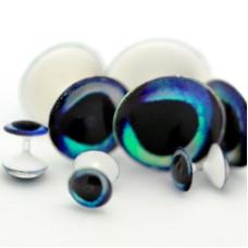 Глазки-гантельки Clear Cure Dumbbell Eyes, 12.7мм STEEL