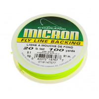 Нахлистовий бекінг Cortland MICRON® 30lb, 1 метр, яскраво-жовто-зелений (BRIGHT YELLOW / GREEN)