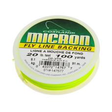 Нахлистовий бекінг Cortland MICRON® 20lb, 1 метр, яскраво-жовто-зелений (BRIGHT YELLOW / GREEN)