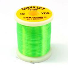 Шовк нейлоновий Danville's Nylon Floss, флуо-зелений (GREEN)