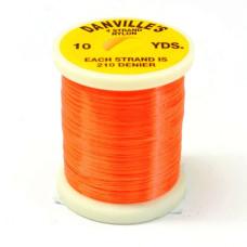 Шовк нейлоновий Danville's Nylon Floss, флуо-помаранчевий (ORANGE)