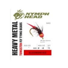 Вольфрамові головки Nymph Head Heavy Metal Tungsten Beads, 2.4мм, червоні (BLOODWORM RED)