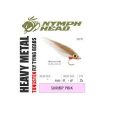 Вольфрамові головки Nymph Head Heavy Metal Tungsten Beads, 2.4мм, рожеві (PINK)