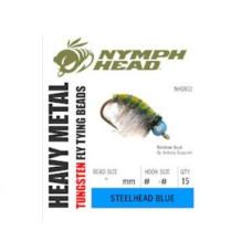 Вольфрамові головки Nymph Head Heavy Metal Tungsten Beads, 2.8мм, блакитні (STEELHEAD BLUE)