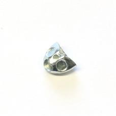 Головки для бичків Fish Skull Sculpin Helmet, міні срібні (MINI SILVER)