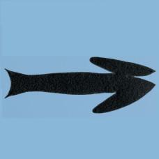 Заготовки для стримерів Fish-Skull Frantic Tails, чорні малі (BLACK SMALL)