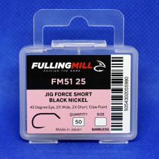 Гачки для мушок Fulling Mill Jig Force Short Barbless Black Nickel №12 Econom box