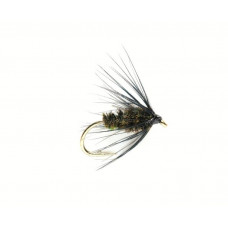 Мокра мушка Spider Black & Peacock, розмір 12