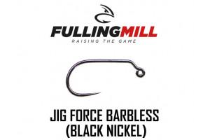 Гачки для мушок Fulling Mill Jig Force Barbless Black Nickel №16 Econom box