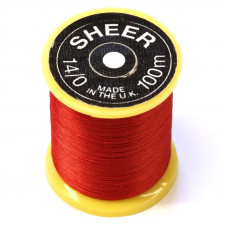 Монтажна нитка Gordon Griffith's Sheer Ultrafine Thread (14/0), червона (Red)