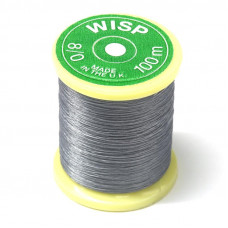 Нитка для в'язання мушок Gordon Griffith's Wisp Microfine Thread (8/0), сіра (Grey)
