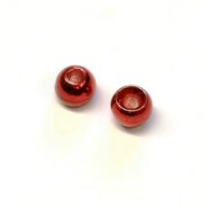 Вольфрамові головки Hareline Plummeting Tungsten Beads, 3.3мм, червоний металік (METALLIC RED) Купити за 117 грн.