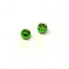 Вольфрамові головки Hareline Plummeting Tungsten Beads, 2.3мм, зелений металік (METALLIC GREEN)