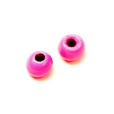 Вольфрамові головки Hareline Plummeting Tungsten Beads, 3.8мм, флуо-рожеві (FL PINK)