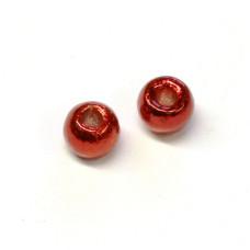Вольфрамові головки Hareline Plummeting Tungsten Beads, 3.8мм, червоний металік (METALLIC RED)