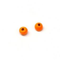 Вольфрамові головки Hareline Plummeting Tungsten Beads, 2.0мм, флуо-помаранчеві (FL ORANGE)