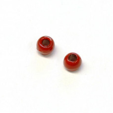 Вольфрамові головки Hareline Plummeting Tungsten Beads, 2.8мм, червоні (RED)