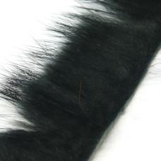 Смужки хутра кролика поперечні Hareline Cross Cut Rabbit Strips, чорні (BLACK)