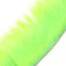 Смужки хутра кролика поперечні Hareline Cross Cut Rabbit Strips, зелений шартрез (CHARTREUSE GREEN)