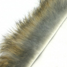 Смужки хутра кролика поперечні Hareline Cross Cut Rabbit Strips, натуральні (GRIZZLY HARES EAR)