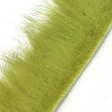 Смужки хутра кролика поперечні Hareline Cross Cut Rabbit Strips, оливкові (OLIVE)