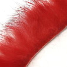 Смужки хутра кролика поперечні Hareline Cross Cut Rabbit Strips, червоні (RED)