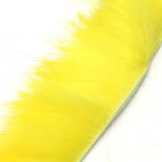 Смужки хутра кролика поперечні Hareline Cross Cut Rabbit Strips, жовті (YELLOW)