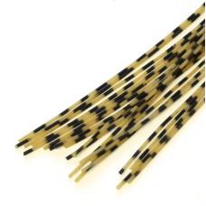 Смугасті гумові ніжки Hareline Grizzly Barred Rubber Legs, Medium Natural (середні кремові)
