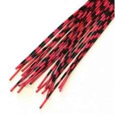 Смугасті гумові ніжки Hareline Grizzly Barred Rubber Legs, Medium Neon Red (середні яскраво-червоні)