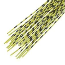Смугасті гумові ніжки Hareline Grizzly Barred Rubber Legs, Medium Olive (середні оливкові)