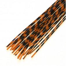 Смугасті гумові ніжки Hareline Grizzly Barred Rubber Legs, Medium Orange (середні помаранчеві)