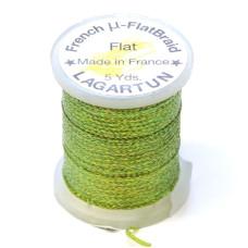 Плетена плоска нитка Lagartun Micro Flat Braid, оливкова (OLIVE)