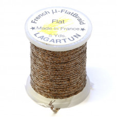 Плетена плоска нитка Lagartun Micro Flat Braid, бронзова (BRONZE)