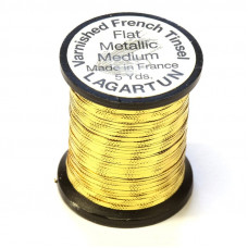 Рифлений тінсел Lagartun French Embossed Tinsel, середній золотий (MEDIUM GOLD)