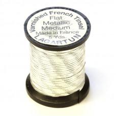 Рифлений тінсел Lagartun French Embossed Tinsel, середній срібний (MEDIUM SILVER )
