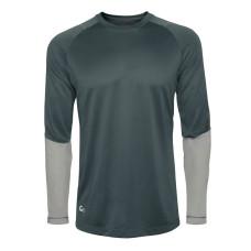 Термобілизна - футболка  Redington SonicDry Baselayer Crew, розмір L, сіра (SLATE)