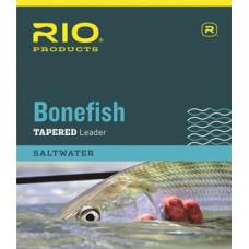 Нахлистовий конусний лідер (підлісок), нейлоновий RIO Bonefish Leader, довжина 10 футов, 12lb, 6kg, 3pak