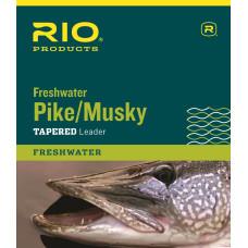 Нахлистовий підлісок (лідер) конусний з металевим повідцем RIO Pike Musky Leader 20lb Silver
