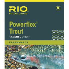 Нахлистовий підлісок (лідер) конусний нейлоновий RIO Powerflex Leader 7.5 '0X