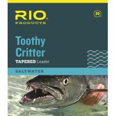 Нахлистовий підлісок (лідер) конусний з металевим повідцем RIO Toothy Critter Leader 15lb Silver