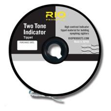 Двоколірний повідковий матеріал RIO Two Tone Indicator Tippet 3X (Чорний з Білим)