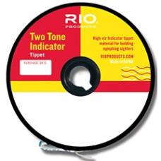 Двоколірний повідковий матеріал RIO Two Tone Indicator Tippet 1X (Рожевий з Жовтим)
