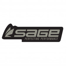 "Наліпка Sage Logo Decal 7.5"" Steel/Black"