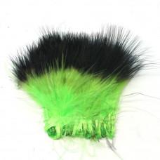 Марабу Spirit River Tiny Tip Dyed Marabou, шартрез з чорними кінцями (Chartreuse / Black) Купити за 122 грн.