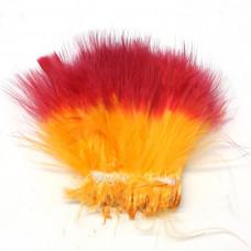 Марабу Spirit River Tiny Tip Dyed Marabou, флуо-помаранчеві з червоними кінцями (Fl. Orange / Hot Red)
