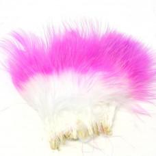 Марабу Spirit River Tiny Tip Dyed Marabou, білі з яскраво-рожевими кінцями (White / Hot Pink)