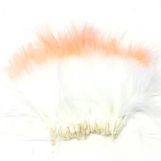 Марабу Spirit River Tiny Tip Dyed Marabou, білі з рожево-помаранчевими кінцями (White / Fl. Light Flame)