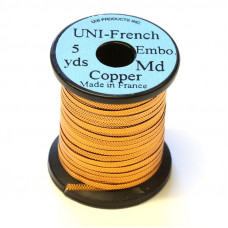 Рифлений тінсел UNI French Embossed Tinsel, середній мідний (MEDIUM COPPER)