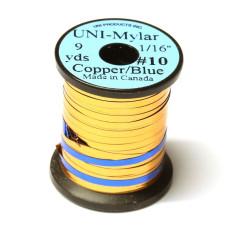 Пластиковий плоский тінсел UNI-Mylar, # 10 мідний / синій (COPPER / BLUE 1/16)